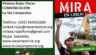 Via Campesina Brasile consegna uno studio su OGM in Ecuador