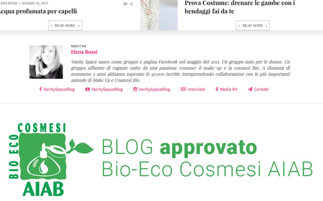 La linea Bio-Eco Cosmesi AIAB sui blog di Vanity Fair space e Biomakeup