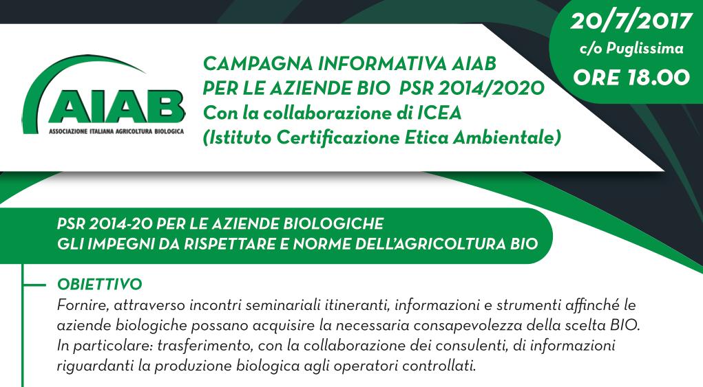 AIAB Puglia incontri estivi all'insegna del biologico