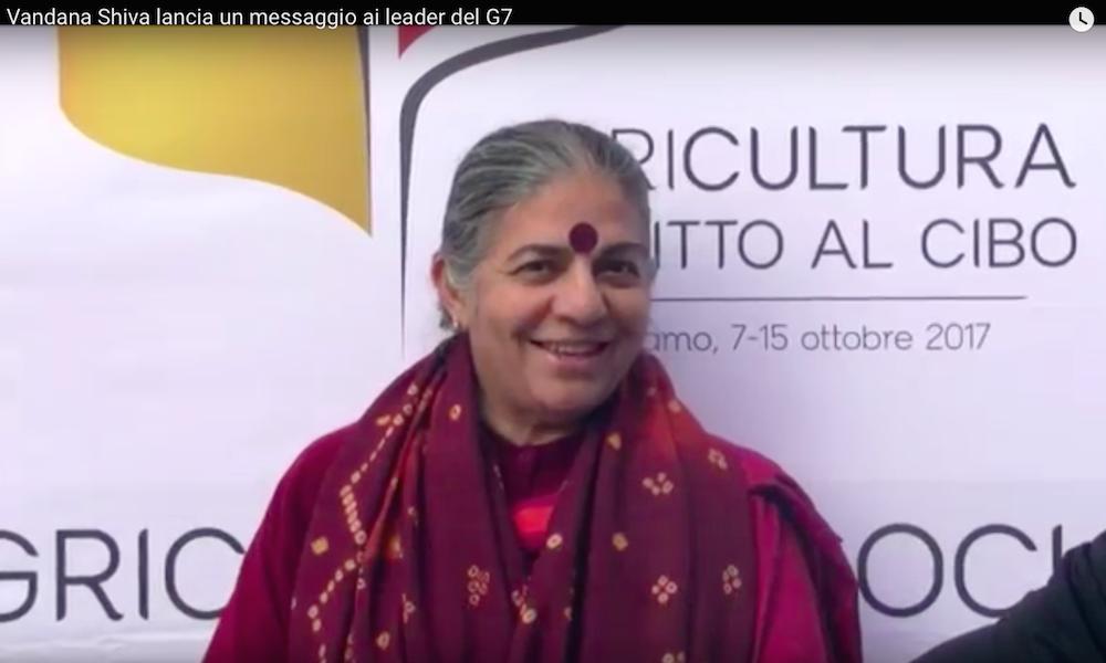 Il messaggio per i leader del G7 da Vandana Shiva, a favore della biodiversità, agricoltura sociale e comunità locali
