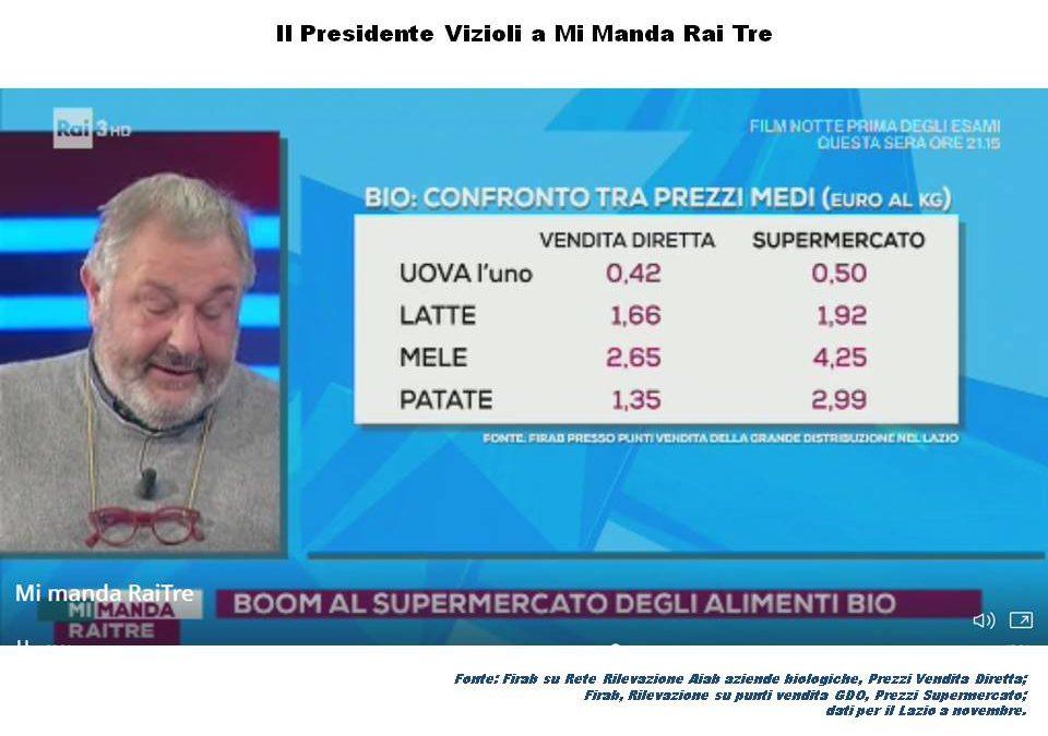 Falso bio: a Mi Manda Rai Tre, il Presidente Vizioli fa chiarezza
