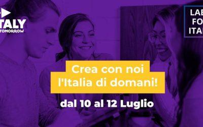10/12 luglio, Labs for Italy: More than a hackathon. La sfida per ripartire, anche per il bio.