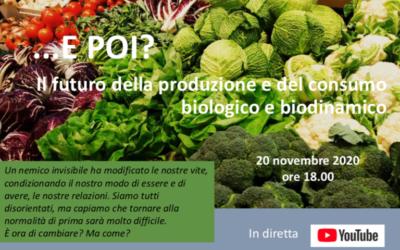 Il futuro del consumo biologico e a zero spreco. Diretta su youtube il 20 novembre