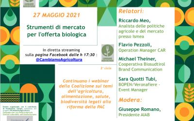 Strumenti di mercato per l'offerta biologica: Webinar di #CambiamoAgricoltura